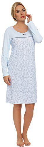 Italian Fashion IF Camicie da Notte da Donna Ilona (Blu Chiaro, S) Italian Fashion by Guazzone http://ebay.to/1ME7pvn