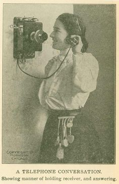 Telephone conversation: You're doing it right!