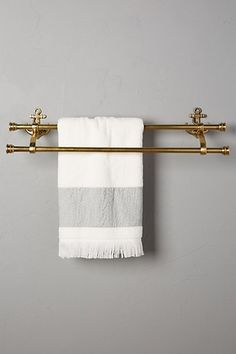 Guest Bathroom! Rayana--Brass Anchor Towel Holder #anthropologie