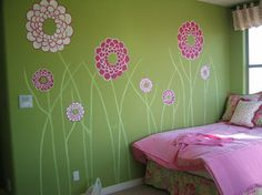 Pink Flower Wall Murals Bedroom Flowers Wall Murals for Home Decor Ideas