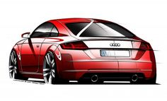 #Audi's third-generation #TT sports car is gearing up for its world debut at the 2014 Geneva Motor Show next month, but these official sketches provide us with our first look at the car's design