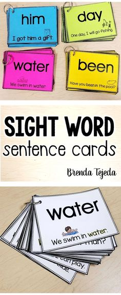 These cards have picture supports to make it easier for children to focus on the target sight word, plus reading the words in context enables children to use these cards independently, thus increasing their confidence.