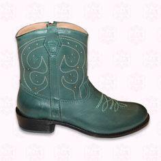 Reizende Gallucci Stiefel nach texanischem Stil. Erhältlich in grün und schiefer-schwarz.  Die Muster sind genäht, alles Leder, Ledersohle. 115,50 €