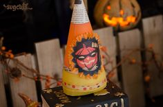 Ghosts N' Goblins SVG Kit - Paper Candy Corn Cone Gift Box - DIY