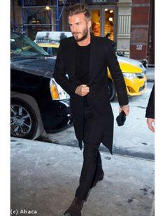 David Beckham : la classe incarnée en total look black