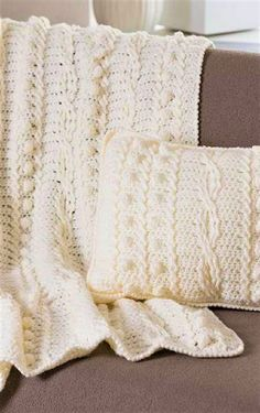 Cable crochet throw pillow by leelee knits free crochet pattern free pattern amazing afghan and matching pillow embellished by popcorn and twist stitches dt1010fo