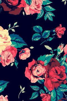 Roses prints on black background walpaper phone, floral wallpaper phone, iphone wallpaper art, Tumblr Wallpaper, Flower Wallpaper, Screen Wallpaper, Pattern Wallpaper, Wallpaper Backgrounds, Iphone Red Wallpaper, Mobile Wallpaper, Iphone Backgrounds, Wallpaper Desktop