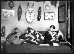 Simone Breton en 1927 | Photo by Man Ray | André Breton's apartment, Rue Fontaine