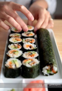 "Previous pinner wrote, ""Step by step photo tutorial- sushi rolling. It's not that hard!"""