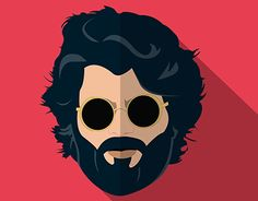 Arjun reddy - Flat Design on Behance Graphic Design Posters, Graphic Design Illustration, Cartoon Wallpaper Hd, Crazy Wallpaper, Tree Wallpaper, Iphone Wallpaper, Instagram Dp, Beard Logo, Beard Art