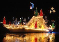 The Annual North Carolina Holiday Flotilla weekend will be held on Saturday, November 2018 in Wrightsville Beach, NC. Christmas In America, Santa Christmas, Outdoor Christmas, Christmas Holidays, Xmas, Nautical Christmas, Christmas Crack, Beach Christmas, Holiday Lights