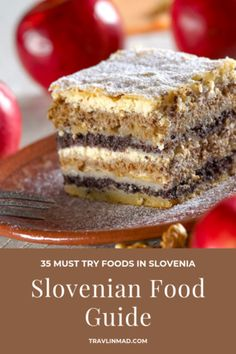 This Slovenian food guide shows you what to eat in Slovenia, what's typical, and how over 20 unique gastronomy regions are changing the way you'll look at traditional Slovenian food! Lithuanian Recipes, Croatian Recipes, Hungarian Recipes, Bologna Food, Slovenian Food, Banana Dessert, Dessert Bread, Romanian Desserts, Czech Recipes