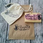 Don't forget about branding your handmade biz! It's not just about having a logo it's about carrying the feel and message of your logo through everything you do and into all the little details . @larose.apparel makes custom rubber stamps for those with a #smallhandmadebusiness Perfect for adding your logo to packaging, wrapping and more . #Repost @larose.apparel ・・・ @threadingthelove I love getting to recreate such awesome logos in rubber!