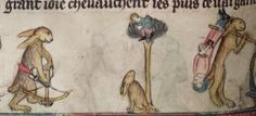 Medieval bunnies, from manuscripts