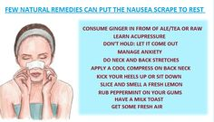 A bad bout of nausea can be a severe scrape as it delivers an uneven feeling of unease and sickness. These few natural remedies can put the nausea scrape to rest in a short span.  #prowomen #promen #nauseatips #health #beauty #howtoovercomenausea #informativepost #healthinfograhics #stayhealthy #chandigarh #tricity #punjab #india