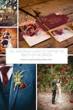 Fall Weddings: 5 Way