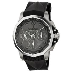 Corum Admirals Cup Challenger 44 Chrono Charcoal Dial Mens Watch 75377120F371-AK15
