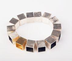 bracelet  Design: Elisabeth Habig  material: silver, 18kt yellow gold, 14kt white gold
