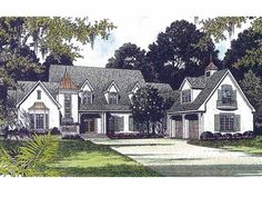 Eplans French Country House Plan - Charming European Cottage - 4505 Square Feet and 3 Bedrooms(s) from Eplans - House Plan Code HWEPL01921