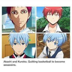 #Kuroko no basket #Assassination classroom - This four characters are so similar, it's creepy.
