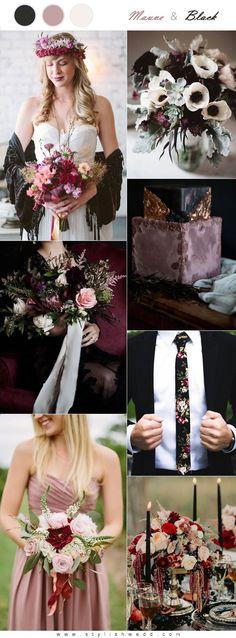 Whimsical Black and Mauve Wedding Ideas