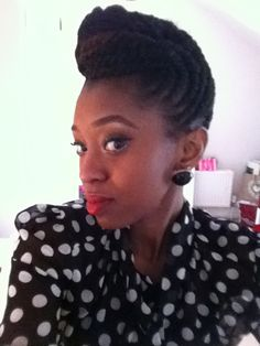 Profession looking natural hair updo Click the image for Laila's natural hair photos and regimen