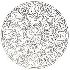 Mandala à colorier, inspiré d'une des rosaces de la cathédrale d'Evreux - Made by Eulita
