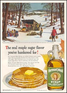 1949 Vermont Maid Syrup ad