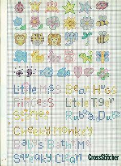 Abecedario de punto de cruz. Tiny Cross Stitch, Cross Stitch Boards, Cross Stitch Alphabet, Cross Stitch Designs, Cross Stitch Patterns, Cross Stitching, Cross Stitch Embroidery, Minis, Creations