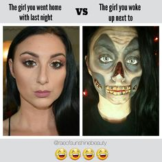 Funny Makeup Meme  Tales from the crypt makep halloween #aboutlastnight #raeofsunshinebeauty Rachelle  (@raeofsunshinebeauty) • Instagram photos and videos