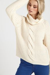 wedmore spiced cable roll neck
