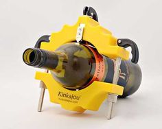 Kinkajou Bottle Cutter, transform bottles into custom glassware. It can be easily adjusted to fit soda or beer bottle up to 1.5 liter magnums.