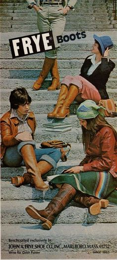 (Mademoiselle, October 1976) Frye ad