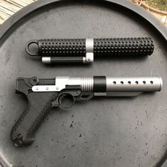 ===================== Shop Announcement: Due to high volume of work all new orders will have a week delay until dispatch. ===================== This is a rebelion isnt it? I rebel. — Jyn Erso Jyn Ersos Blaster and baton from Rogue One: A Star Wars Story. This item is 3D printed at 20...