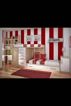 Bunk bed bedroom idea