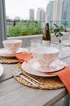 Dining Alfresco with our NEW Bargello Dinnerware Collection | LC Living Restaurant Patio, Blue Dinnerware, Dinner Salads, Bargello, Cereal Bowls, Flatware Set, Serving Platters, Dining, Tableware