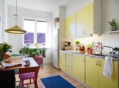 yellow kitchen | @Olivia Eggers from IKEA FAMILY