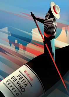 Carluccies / Fiesta De Vino / Veneto Illustration by Malika Favre http://piccsy.com/2011/08/illustrations-by-malika-favre2/