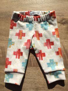 Organic Knit Watercolor Cross Cuffed Legging