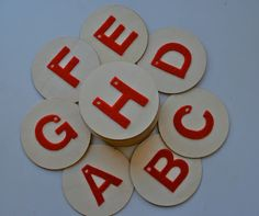 Okay…so they are not exactly sandpaper but felt letters.  I have been eyeing the montessori sandpaper letters for a long time, but the price tag…ouch!!!  Way too steep for me.  I knew that I could make my own for a fraction of the price and I found a great website to help.  The only difference...