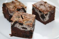 Veganeren: Oreo chocolate cream cheese brownies