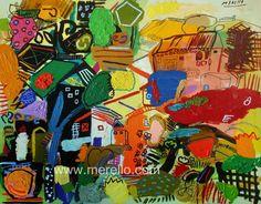 "CINTRA, LA NATURALEZA DEL COLOR.  Jose Manuel Merello.- ""Recuerdos de Cintra. Portugal"" (73x92 cm)   ART CONTEMPORAIN. http://www.merello.com"