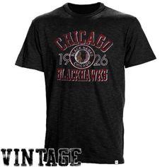 '47 Brand Chicago Blackhawks Scrum Vintage T-Shirt - Black