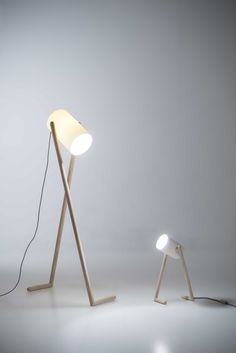 """Academy of Art and Design student Hedda Torgersen designed this desk lamp to look like a """"long-legged character"""".Bergen Academy of Art and Design student Hedda Torgersen designed this desk lamp to look like a """"long-legged character"""". Wooden Floor Lamps, Wooden Lamp, Wooden Flooring, Penny Flooring, Dark Flooring, Garage Flooring, Farmhouse Flooring, Brick Flooring, Flooring Ideas"""