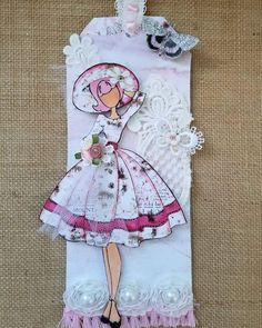 Prima Paper Dolls, Prima Doll Stamps, Audrey Doll, Atc Cards, Handmade Tags, Paper Tags, Cards For Friends, Christmas Gift Tags, Scrapbook Paper Crafts