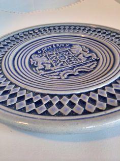 Stoneware Bavarian Wall Plate German Blue Pattern by BavarianDreams on Etsy https://www.etsy.com/listing/263295955/stoneware-bavarian-wall-plate-german