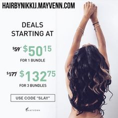 100% Human Hair Visit my website!! Up to 25% off when you buy 3 bundles or more hairbynikkij.mayvenn.com ✅Free shipping ✅Arrives 2-3 business days & ✅30 day Guarantee!!! #Mayvenn #HairWeaveKiller #HumanHair #Flawless #NikkiJ #BossLady #MayvennCLE #HairByNikkiJ #HairDealer  #HairOnFleek #HairSale #Bundles #MayvennMade #Cleveland #CLE #CLEtilliDie #Slay Use code:SLAY  Other