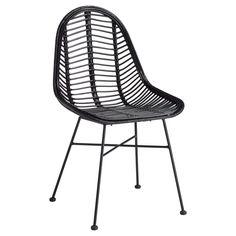 Rotan stoel zwart met subtiel onderstel. 55x49x86 cm (lxbxh). Deze stoel is niet geschikt voor gebruik buiten. #stoel #kwantumstijl