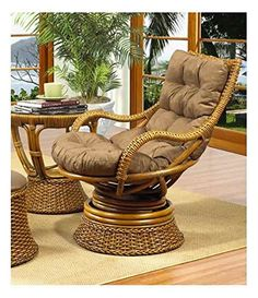 Biscayne Rattan Swivel Rocker W Cushion In Royal Oak (641) Boca Rattan Http: