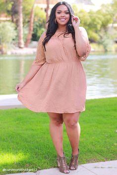 Plus Size Open Shoulder Dress